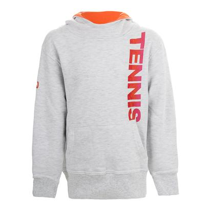 Girls` Pullover Tennis Hoody White Heather