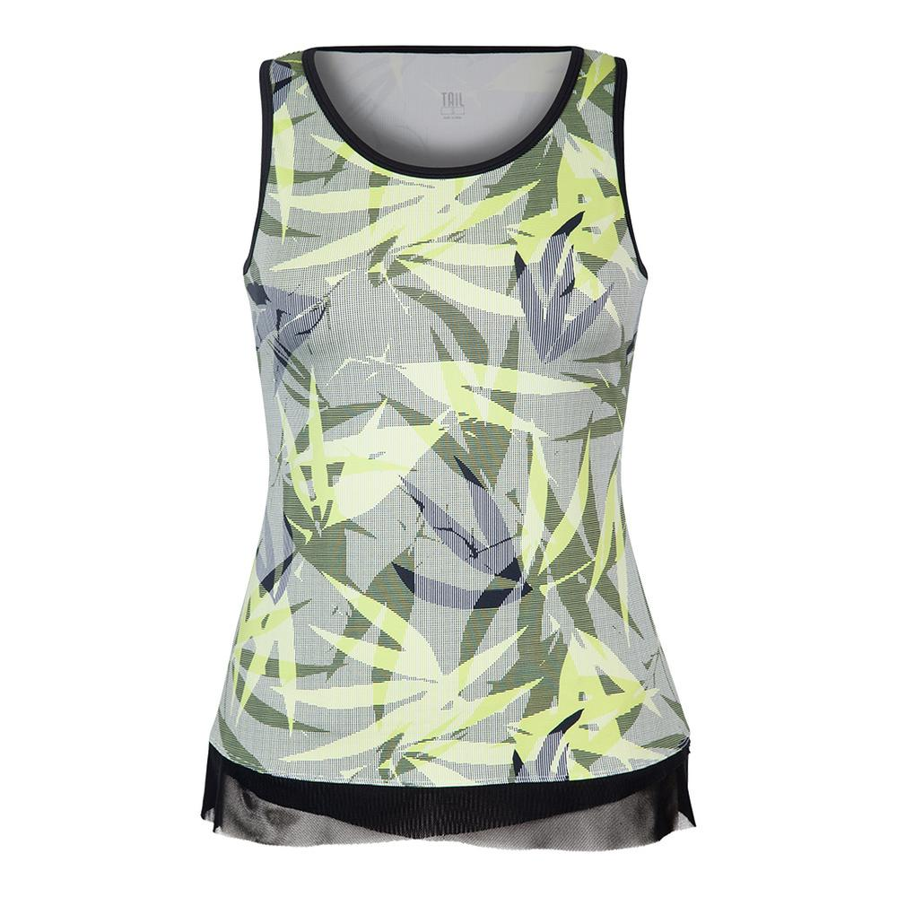 Women's Patricia Tennis Tank Intrigue Chartreuse