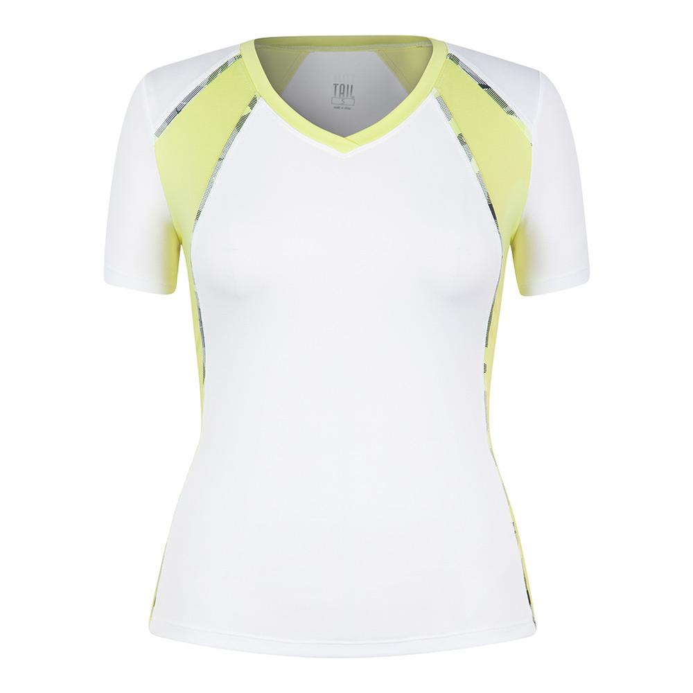 Women's Maria Cap Sleeve Tennis Top White
