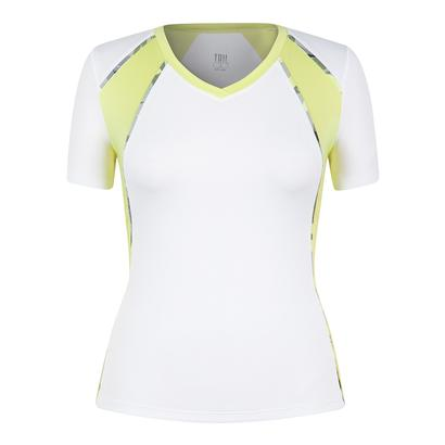 Women`s Maria Cap Sleeve Tennis Top White