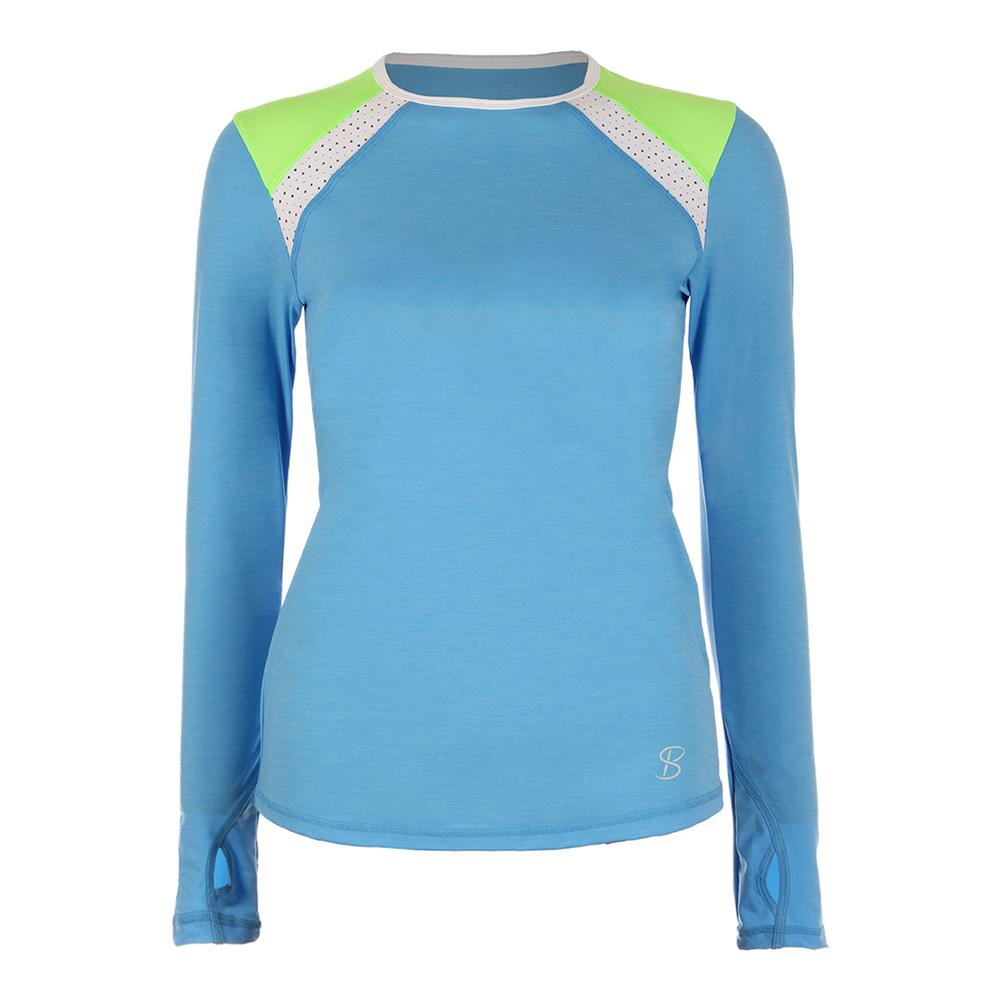 Women's Classic Long Sleeve Tennis Top Sky Blue