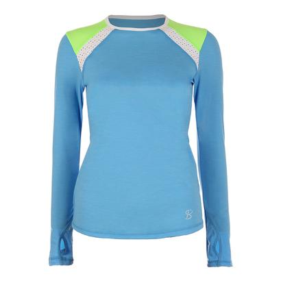 Women`s Classic Long Sleeve Tennis Top Sky Blue