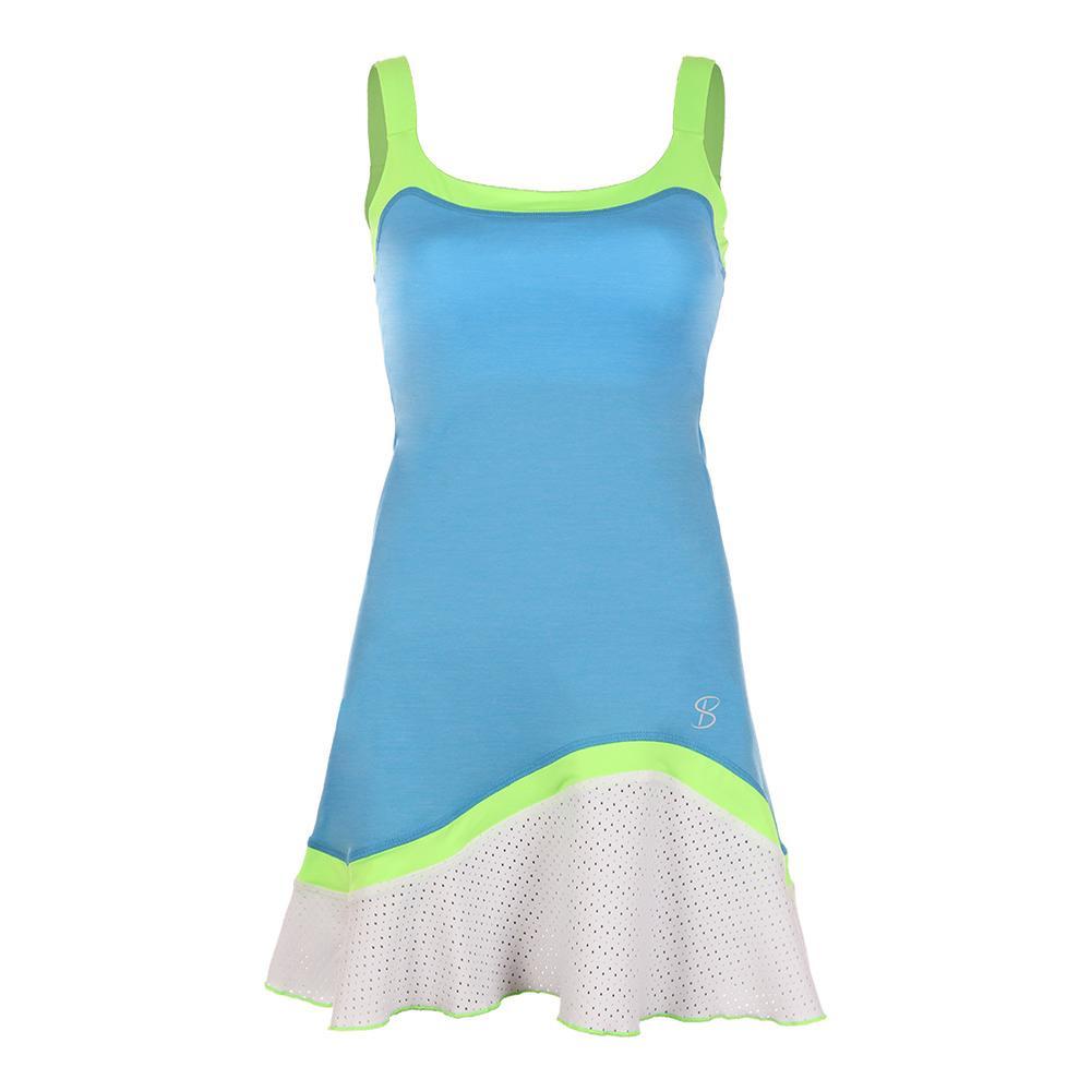 Women's Tennis Cami Dress Sky Blue And White