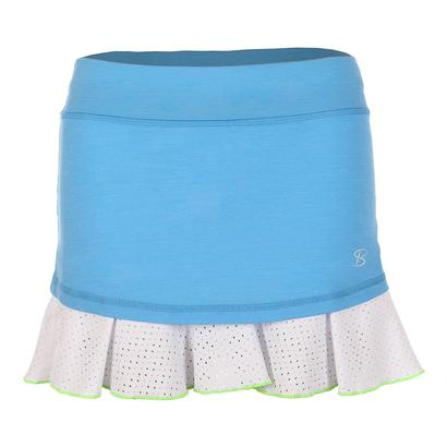 Women`s 14 Inch Tennis Skort Sky Blue and White
