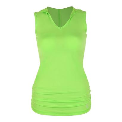 Women`s Racerback Tennis Hoodie Glorious Green