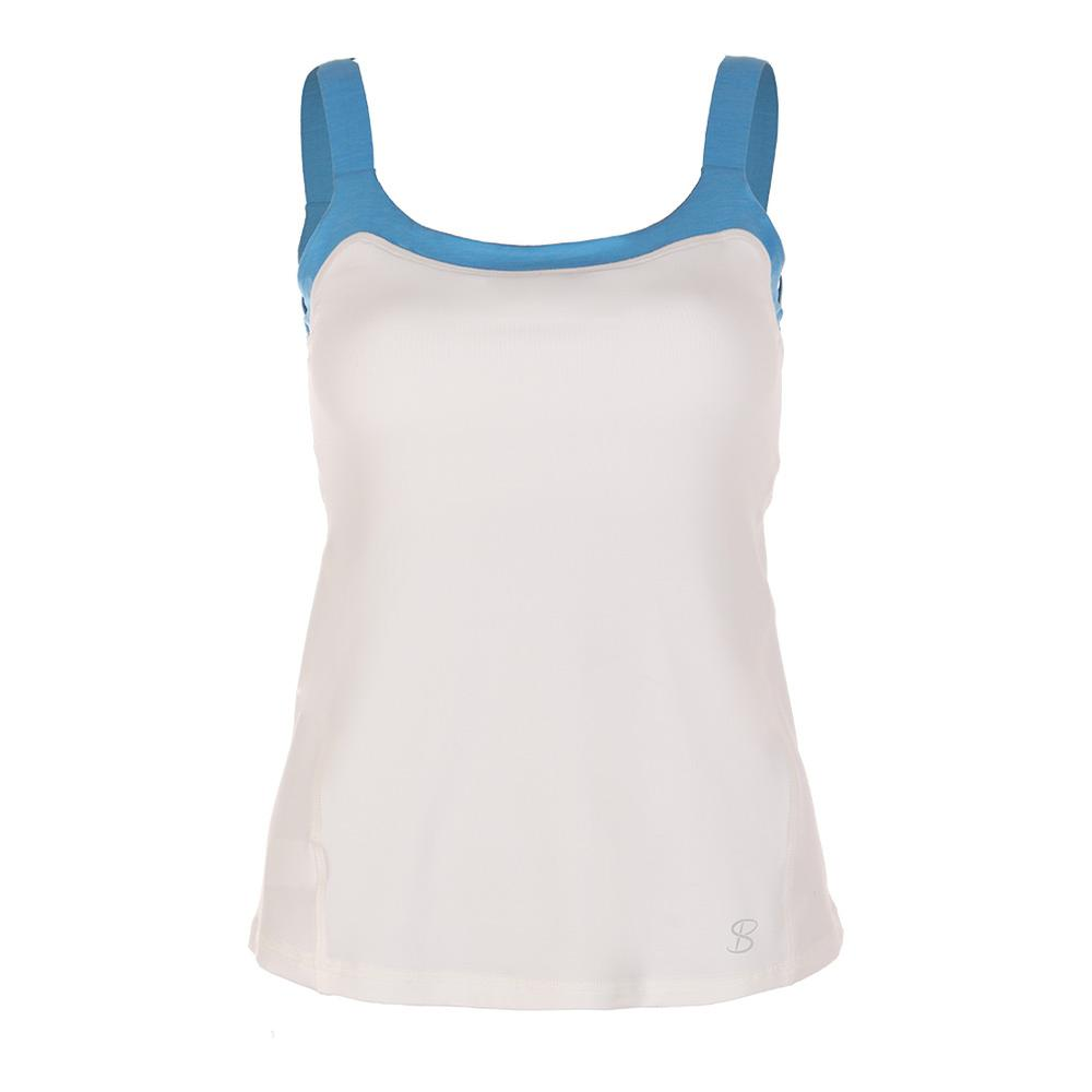Women's Athletic Tennis Cami White And Sky Blue
