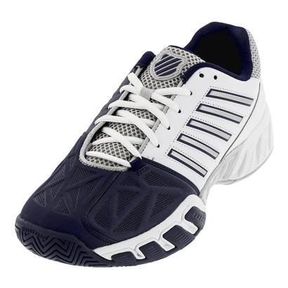 Men`s BigShot Light 3 Tennis Shoes White and Navy