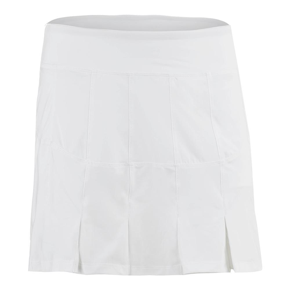 Women's Lawn Long Tennis Skort White