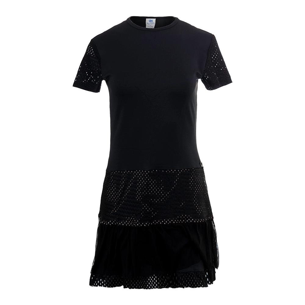 Women's Ashley Tennis Dress Black And Nude