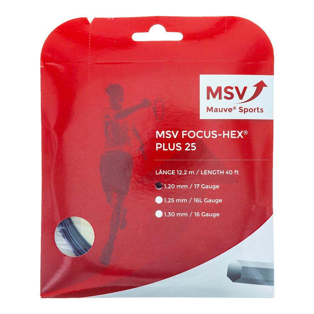 0,61€//lfd.m Tennissaite Mauve MSV Focus-Hex Plus 25 schwarz SUPER TOUCH: 12m