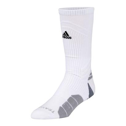 Traxion Menage Crew Tennis Sock Large White