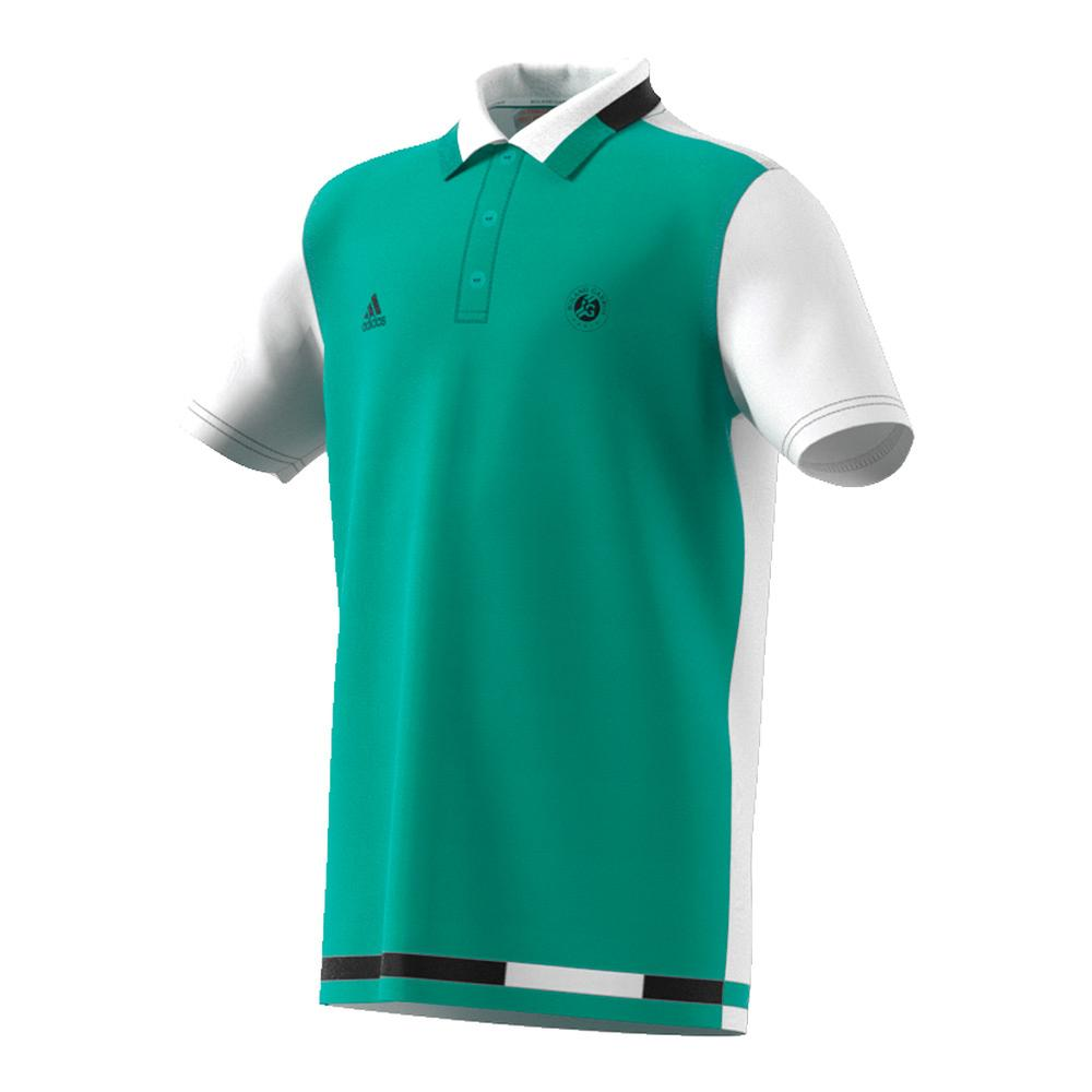 Boys ` Roland Garros Tennis Polo Core Green And White