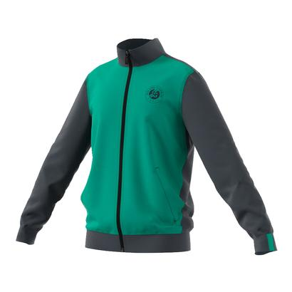 Boys` Roland Garros Tennis Jacket Core Green and Night Gray