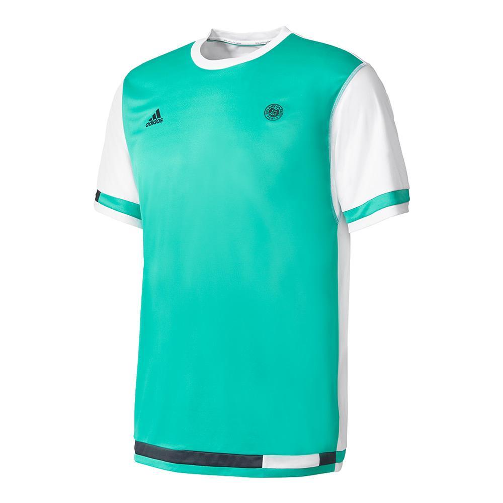 Men's Roland Garros Tennis Tee Core Green And White