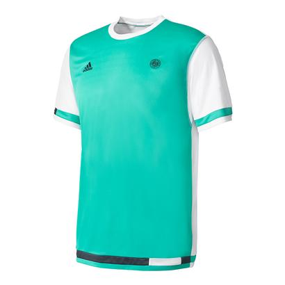 Men`s Roland Garros Tennis Tee Core Green and White
