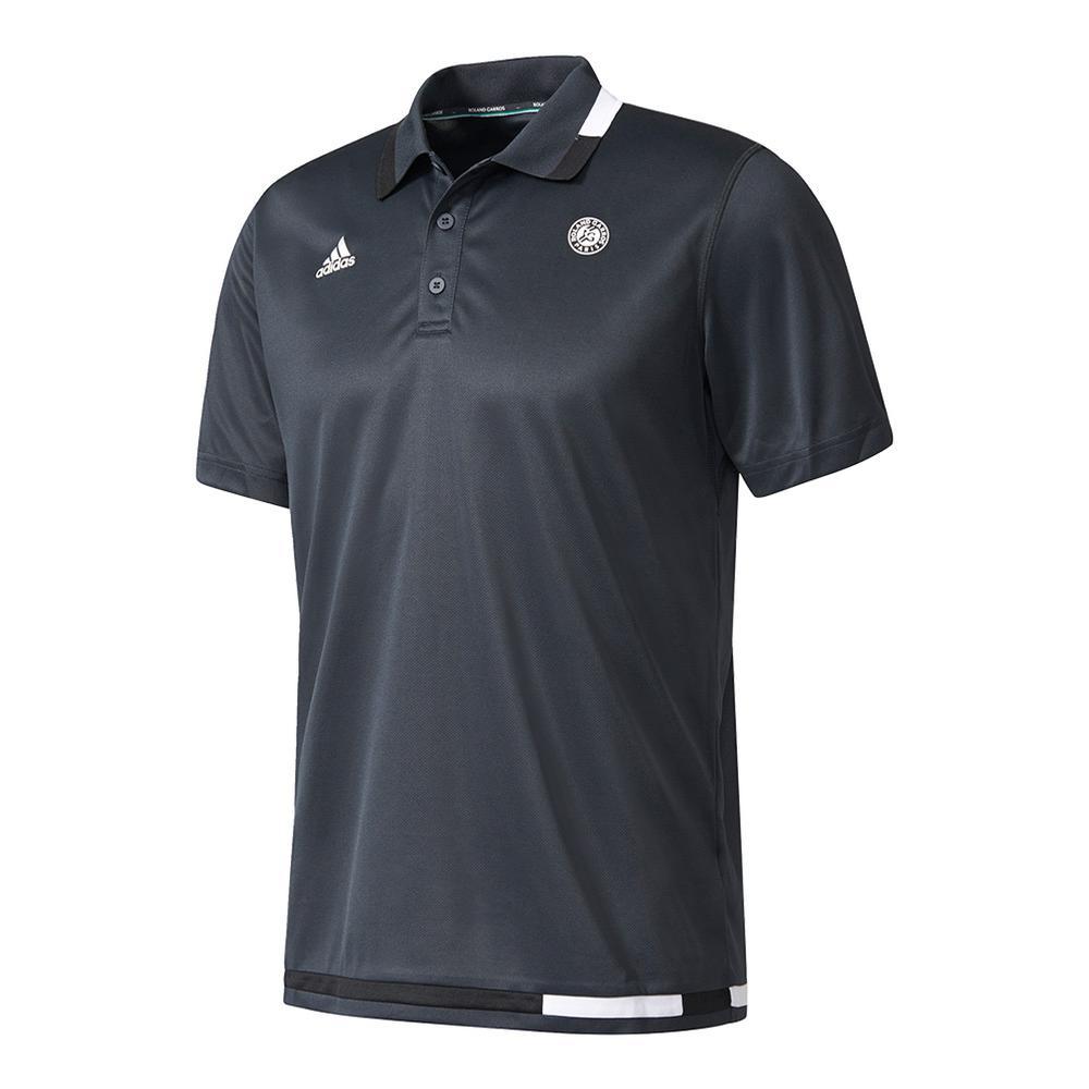 Men's Roland Garros Tennis Polo Night Gray And White