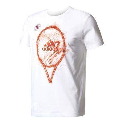 Men`s Roland Garros Graphic Tennis Tee White