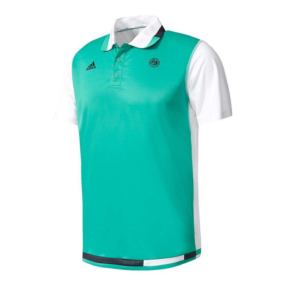 Men's Roland Garros Tennis Polo Core Green And White