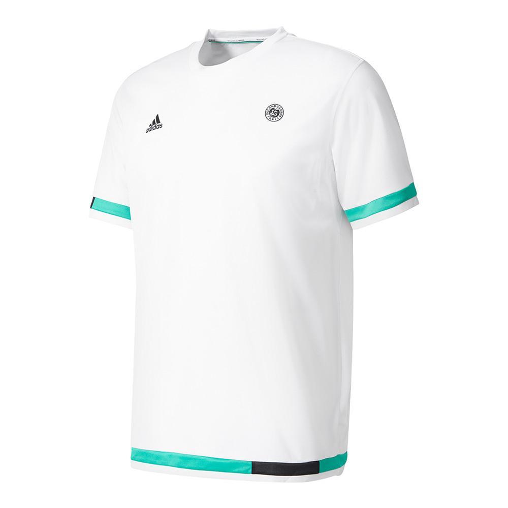 Men's Roland Garros Tennis Tee White And Core Green