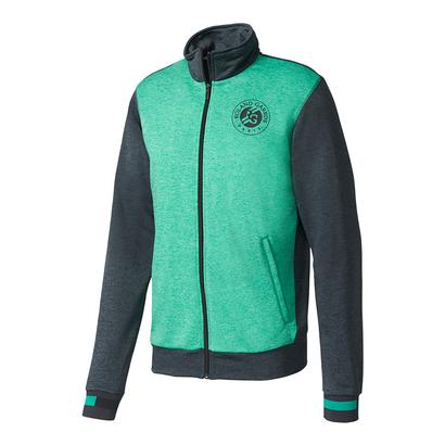 Men`s Roland Garros Tennis Jacket Night Gray and Core Green