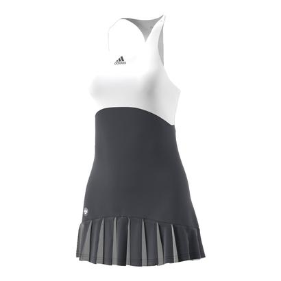 Women`s Roland Garros On Court Tennis Dress Night Gray and White