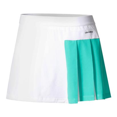 Women`s Roland Garros Tennis Skirt White and Core Green