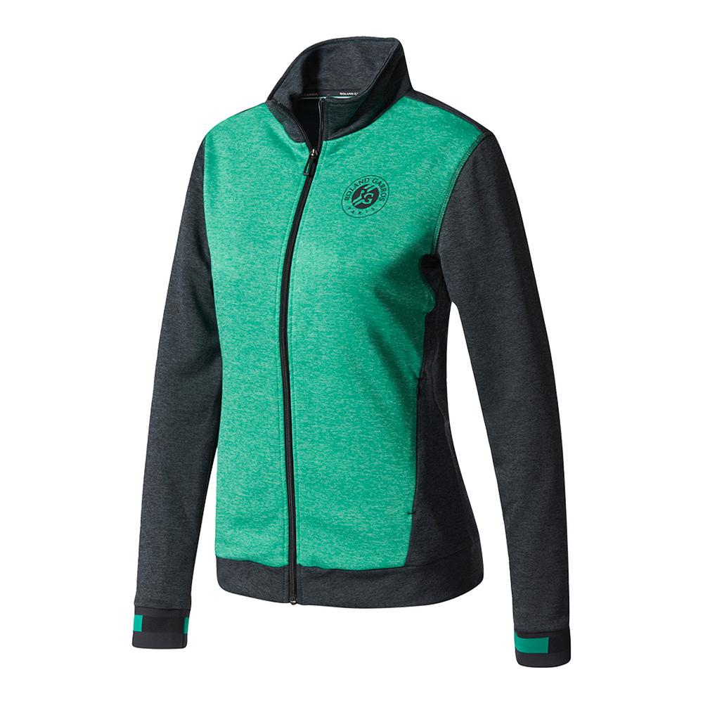 Women's Roland Garros Tennis Jacket Night Gray And Core Green