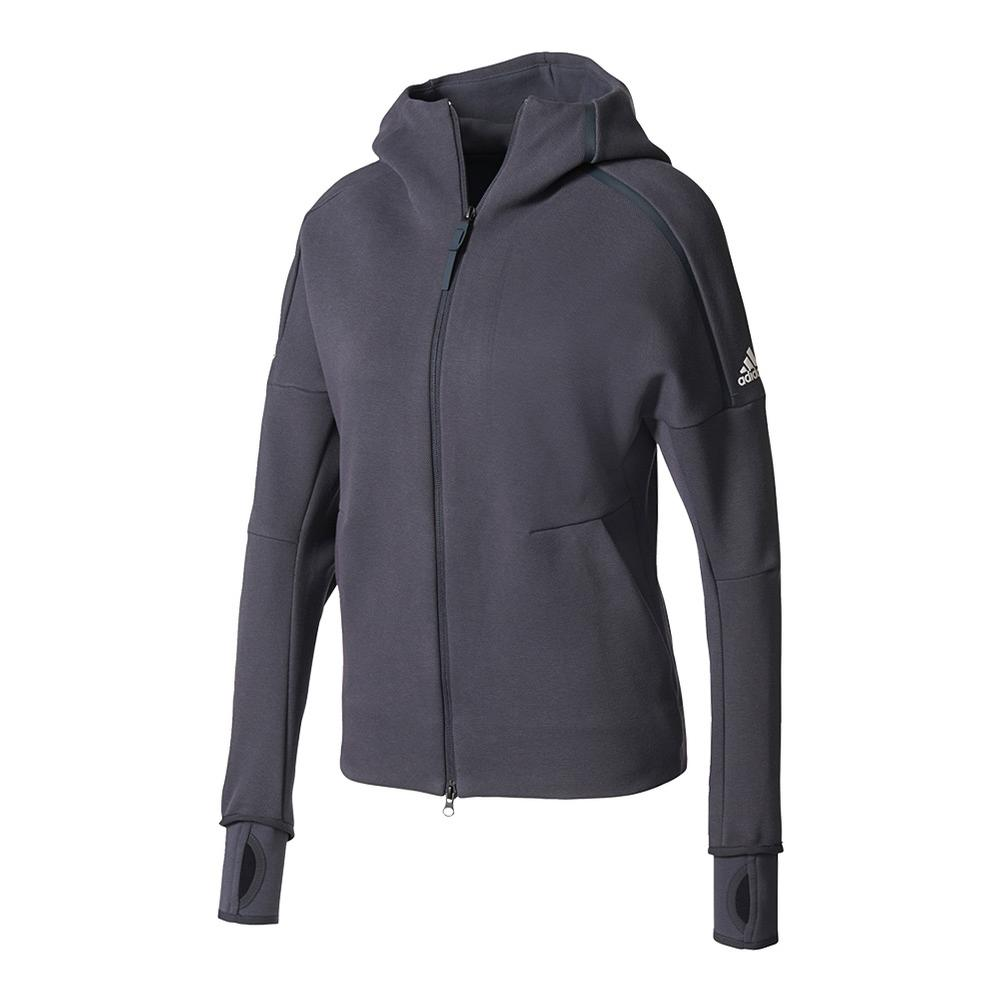 Women's Roland Garros On Court Daybreaker Tennis Hoodie Night Gray