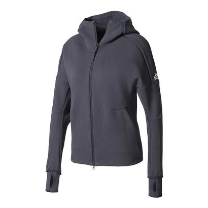Women`s Roland Garros On Court Daybreaker Tennis Hoodie Night Gray
