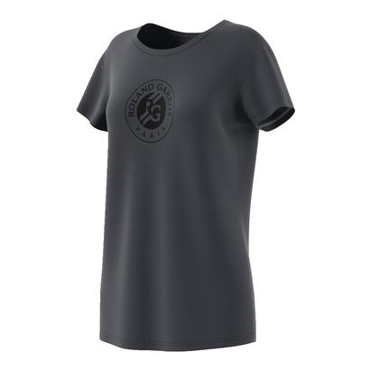 Women`s Roland Garros Graphic Tennis Tee Night Gray
