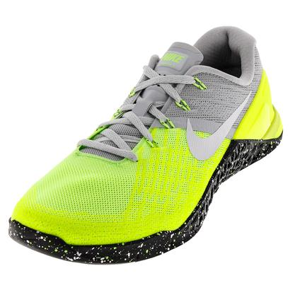 Men`s Metcon 3 Training Shoes Pure Platinum and Black