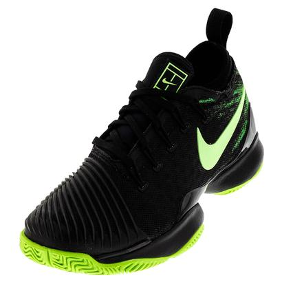 Juniors` Air Zoom Ultra React Tennis Shoes Black and Ghost Green