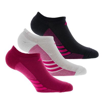 Women`s Superlite No Show Socks 3 Pack Gray and Pink Size 5-10
