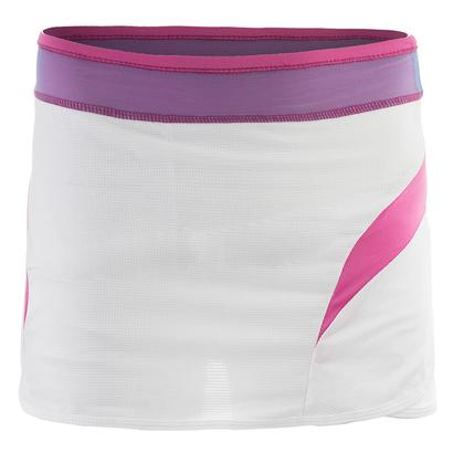 Girls` Tricked Out Tennis Skort White and Pinkberry