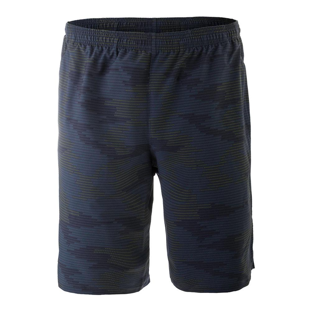Men's Woven Tennis Short Navy Cyber Camo