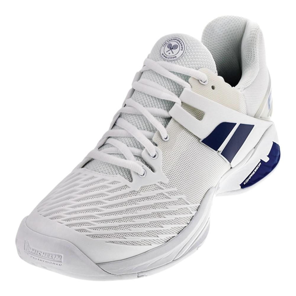 Babolat Men S Propulse All Court Wimbledon Tennis Shoes In White And