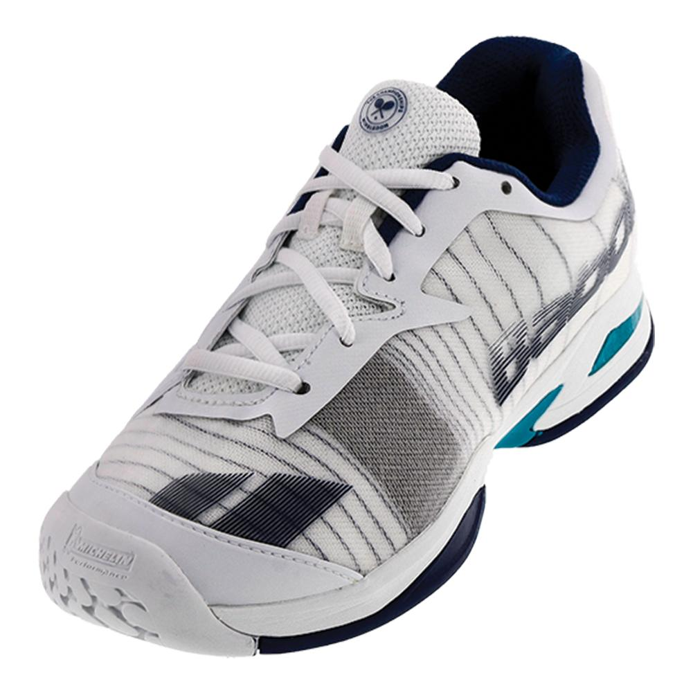 Babolat Juniors Jet All Court Wimbledon Tennis Shoes In White