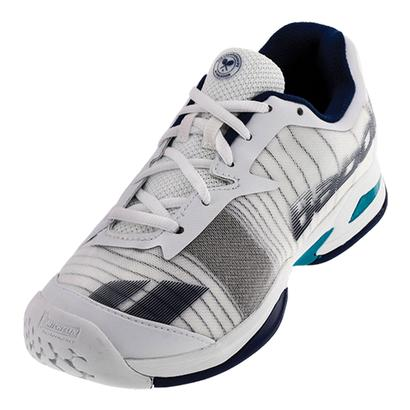 Juniors` Jet All Court Wimbledon Tennis Shoes White