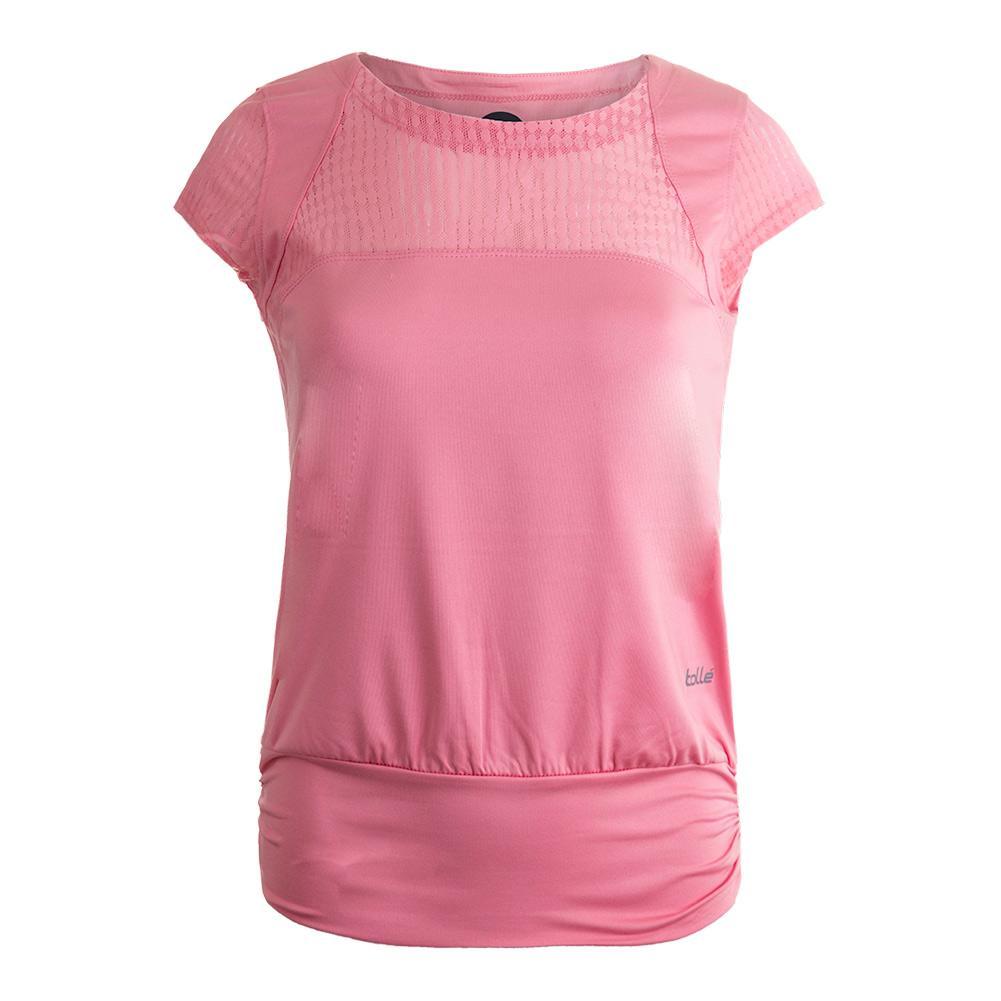 Women's Sofia Cap Sleeve Tennis Top Pink