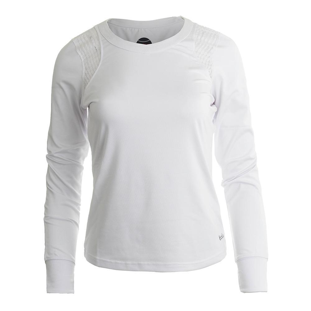 Women's Sofia Long Sleeve Tennis Top White