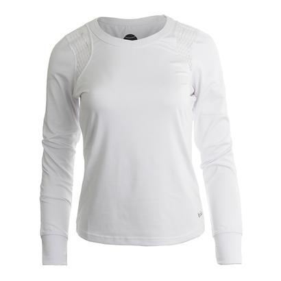 Women`s Sofia Long Sleeve Tennis Top White