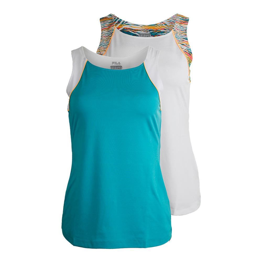 Women's Tropical Full Coverage Tennis Tank