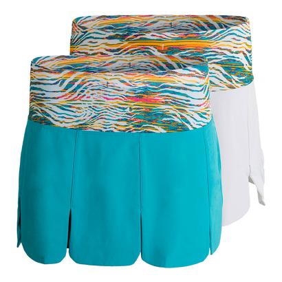 Women`s Tropical Car Wash Tennis Skort