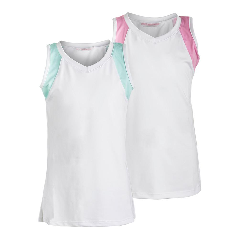 Girls ` Color Block Tennis Tank