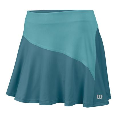 Women`s Star Bonded 13.5 Inch Tennis Skort Storm Blue and Aqua