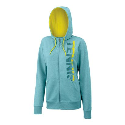 Women`s Full Zip Tennis Hoody Aqua Heather