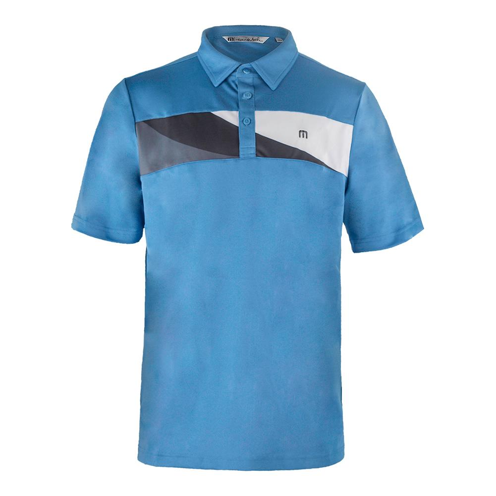 Men's Foust Tennis Polo Cendre Blue