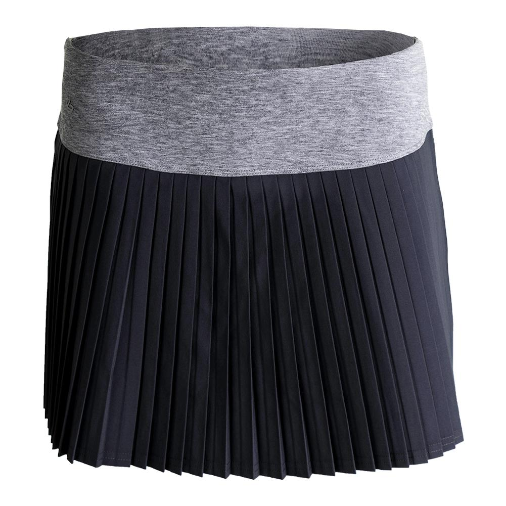 Women's Daniela 13.5 Inch Pleated Tennis Skort Graphite
