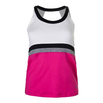 Women`s Daniela Tennis Tank Fuchsia and White