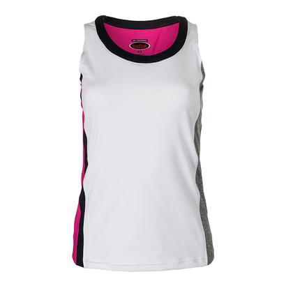 Women`s Daniela Tennis Tank White and Graphite